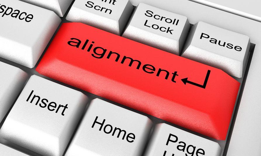 text alignment in web design
