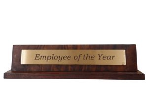 Website ROI - employee of the year plaque