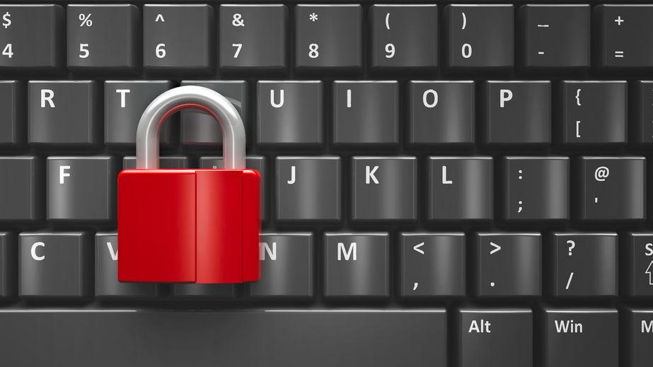 WordPress security - red lock on keyboard