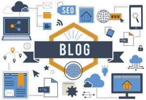 Blogging for SEO - blog blogging website web page concept