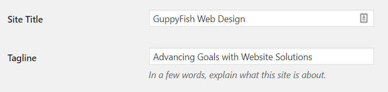 changing the website tagline in wordpress