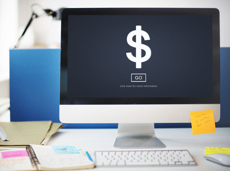 Website Effectiveness: dollar sign on computer screen