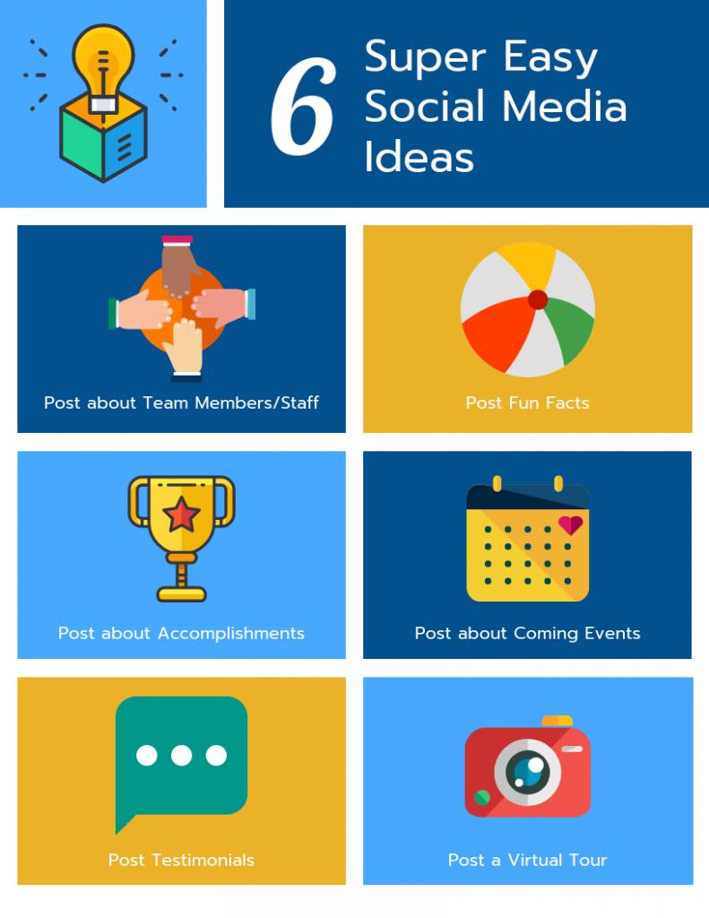 6 Super Easy Social Media Ideas