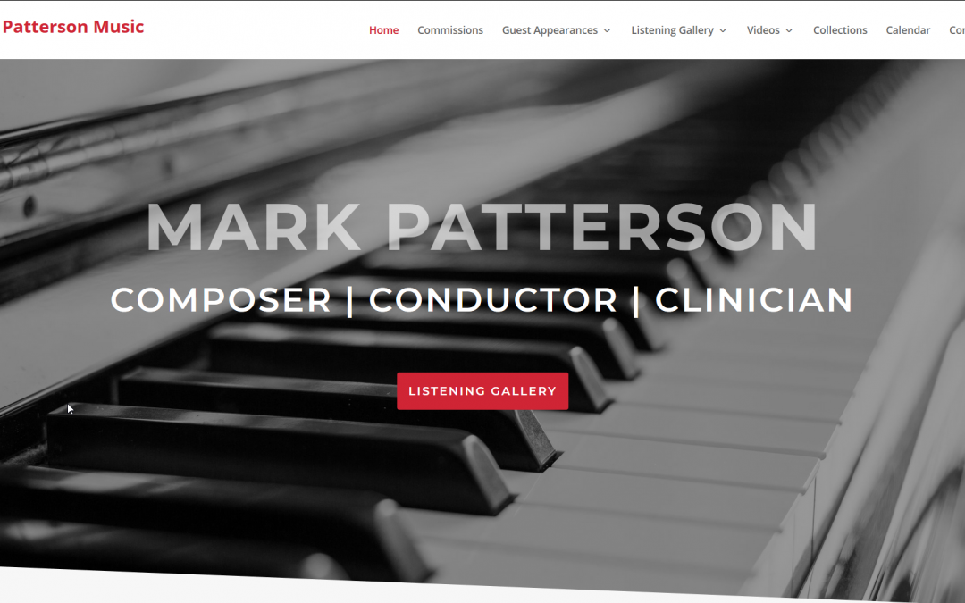 Web Design Case Study: Mark Patterson Music