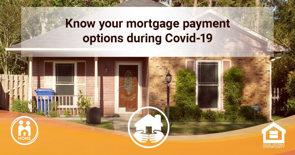 "Image saying ""Know your mortgage payment options during Covid-19"" from HOME of Va"