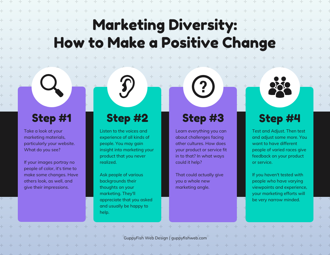 How to make changes to help marketing diversity.