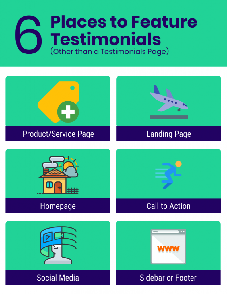 6 places to put a website testimonial