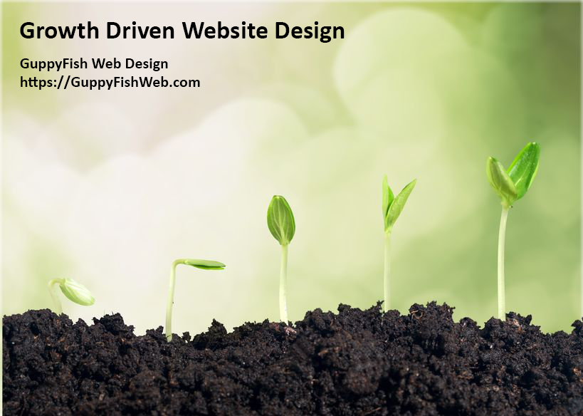 Growth Driven Website Design - seedling in different stages of growth