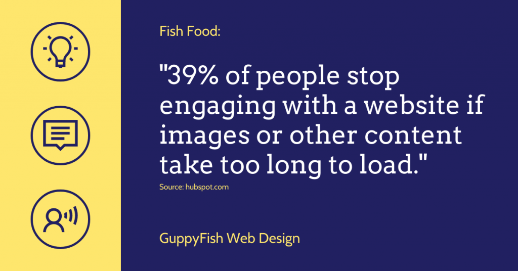 39% of people stop engaging with a website if images or other content take too long to load.
