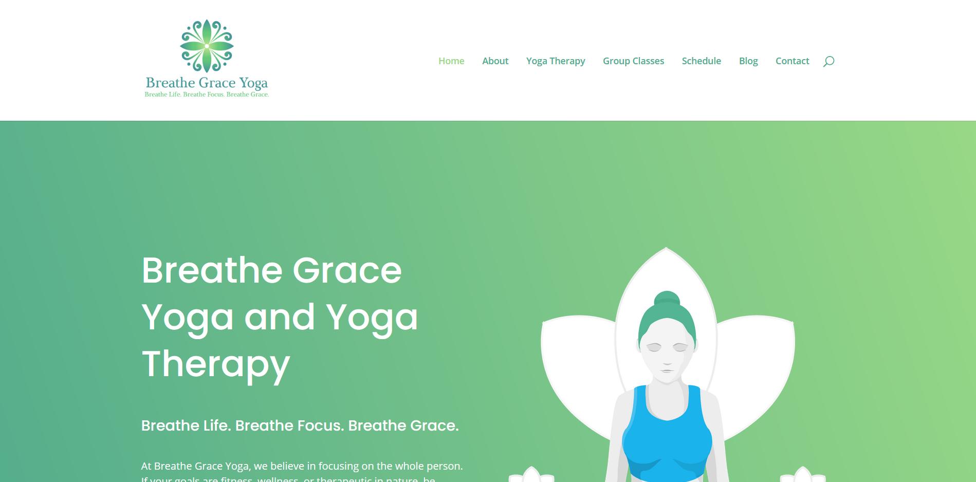 Breathe Grace Yoga Website Screenshot
