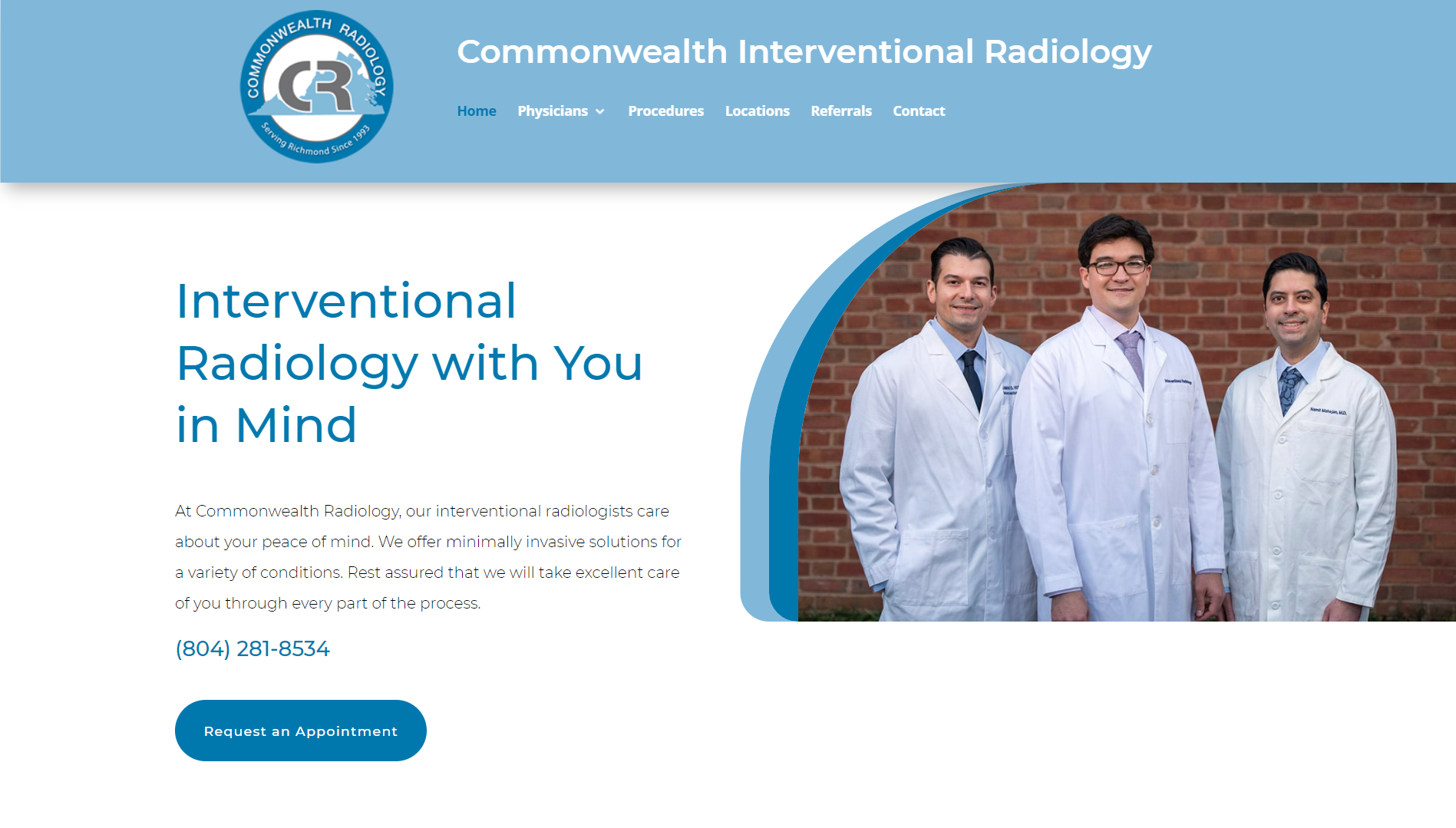 Commonwealth Interventional Radiology Screenshot