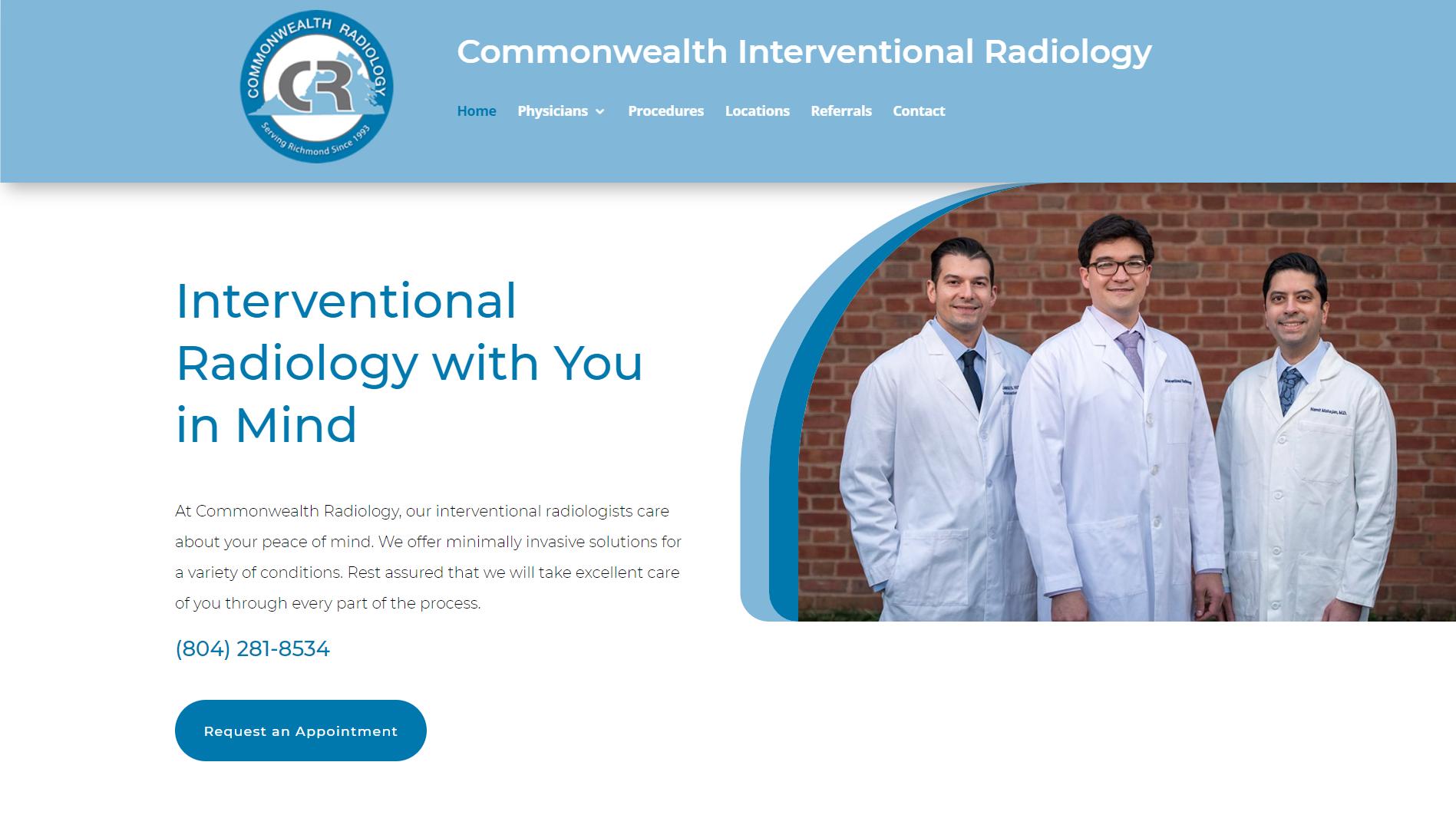 Commonwealth Interventional Radiology Screenshot
